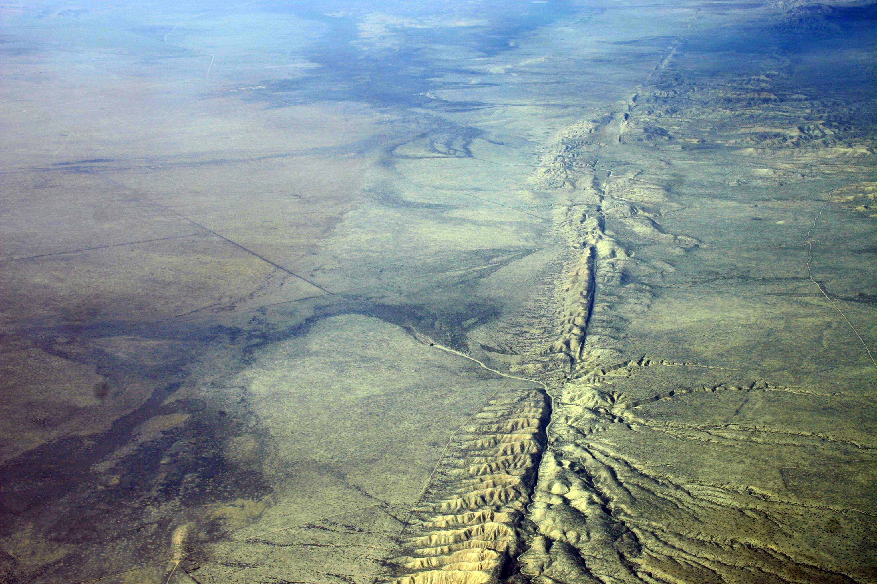 La falla de San Andrés recorre California de norte a sur a lo largo de 800 millas. (Foto: Wikimedia Commons)