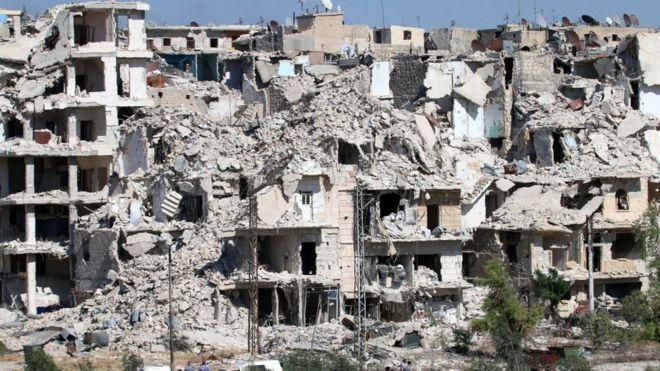 Más de 250.000 personas están atrapadas en la sitiada parte oriental de Alepo, donde corren el riesgo de morir de hambre. Foto: Getty