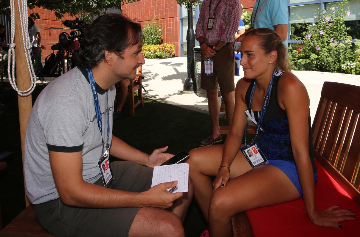 Puig durante la entrevista en el USTA Billie Jean King National Tennis Center donde se juega el US Open.