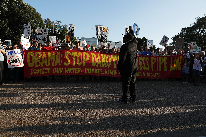 Los activistas realizaron protestas en Washington.