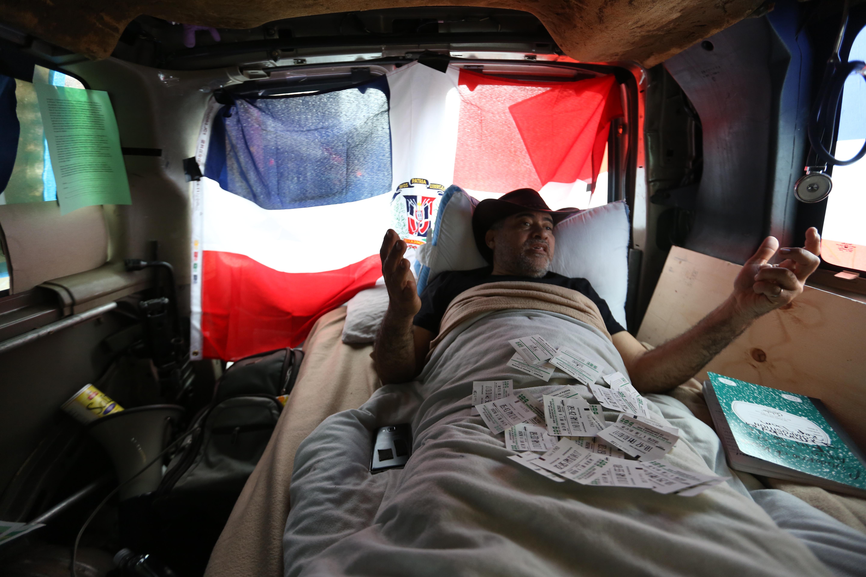 Dr. Wazar Gomez en su dia 14 de huelga de hambre en protesta de la corrupcion del gobierno Dominicano.