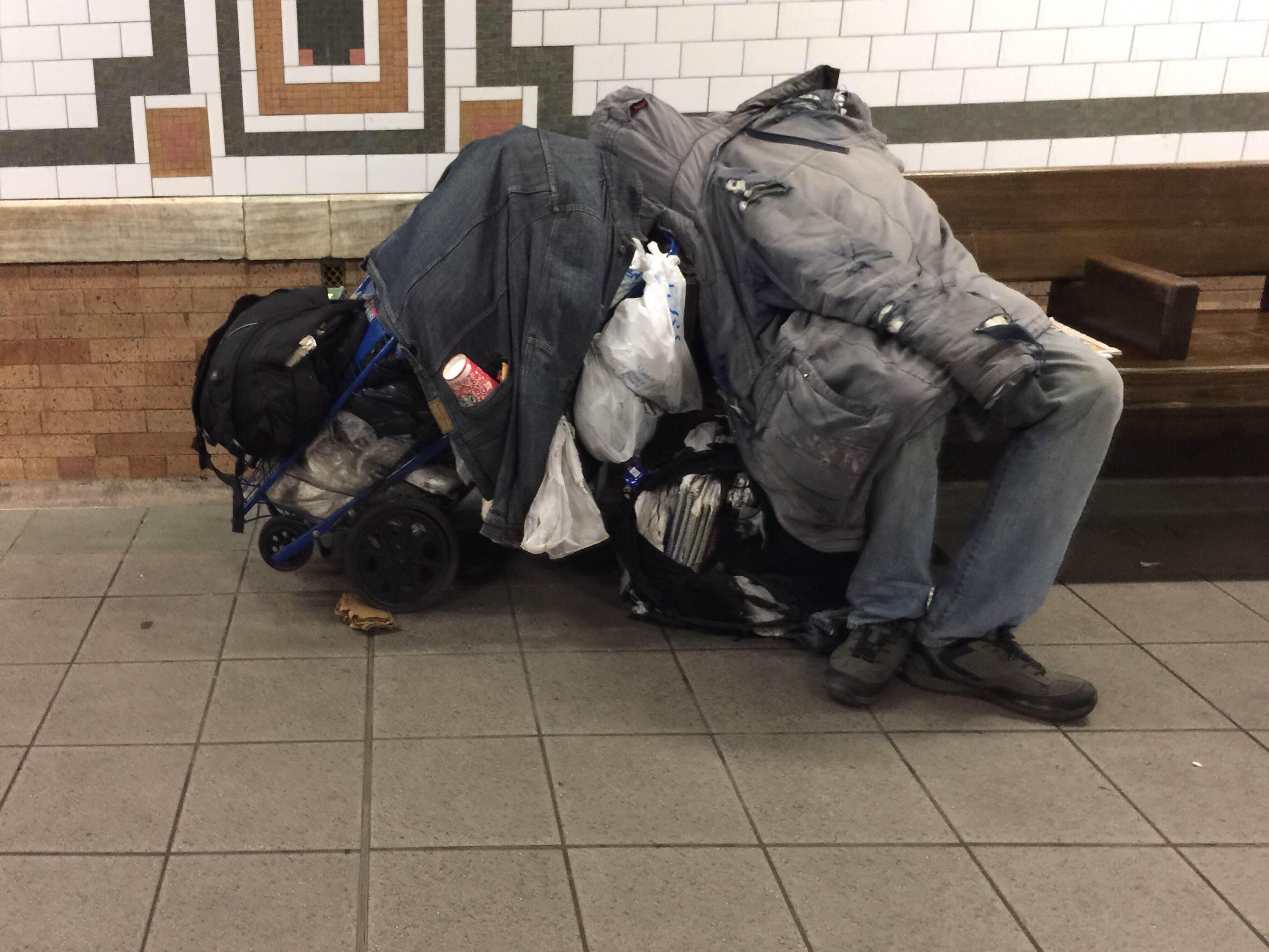 Desamparados en la ciudad de Nueva York.