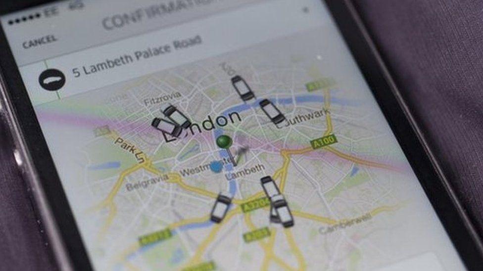 uber mapa