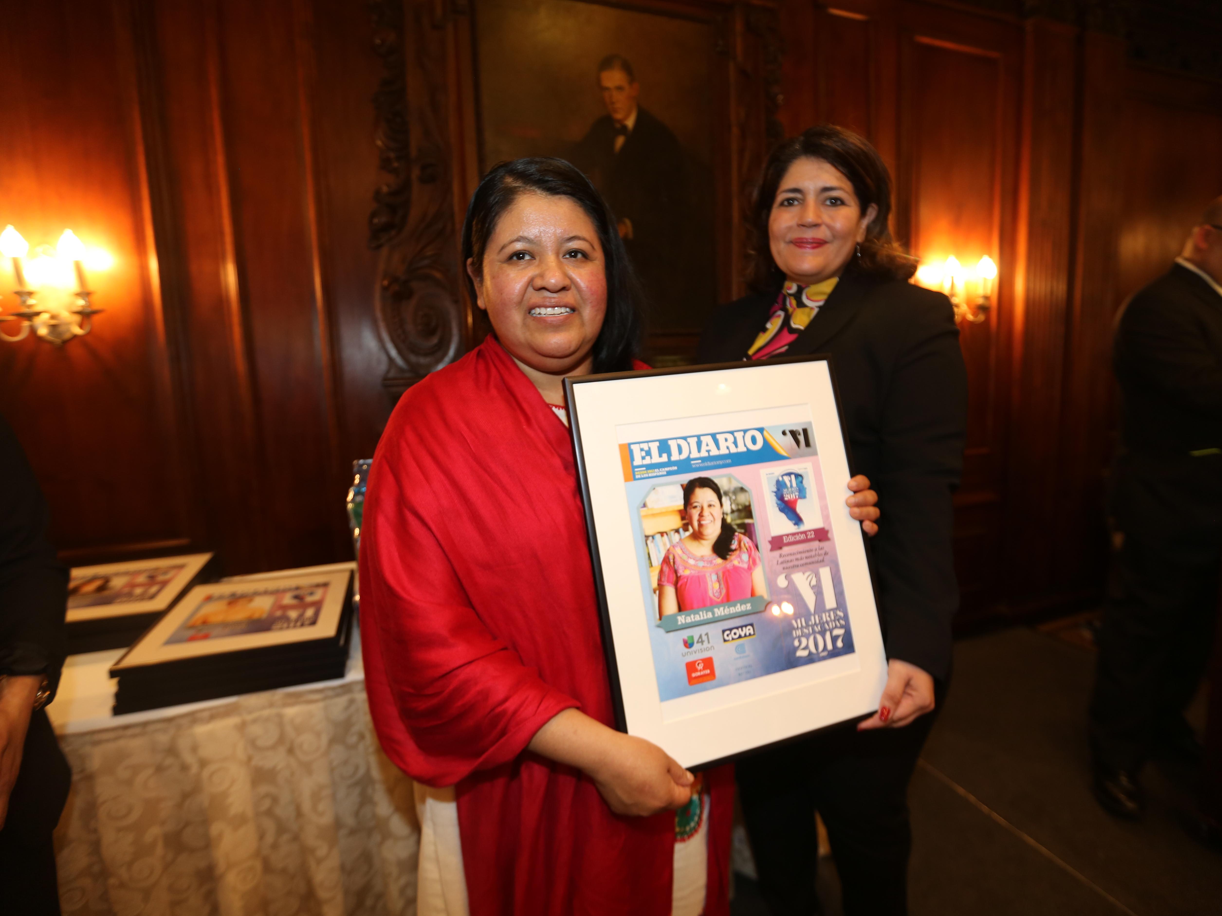 Destacada de 2017, Natalia Mendez. Mujeres Destacadas 2017 en el Harvard Club