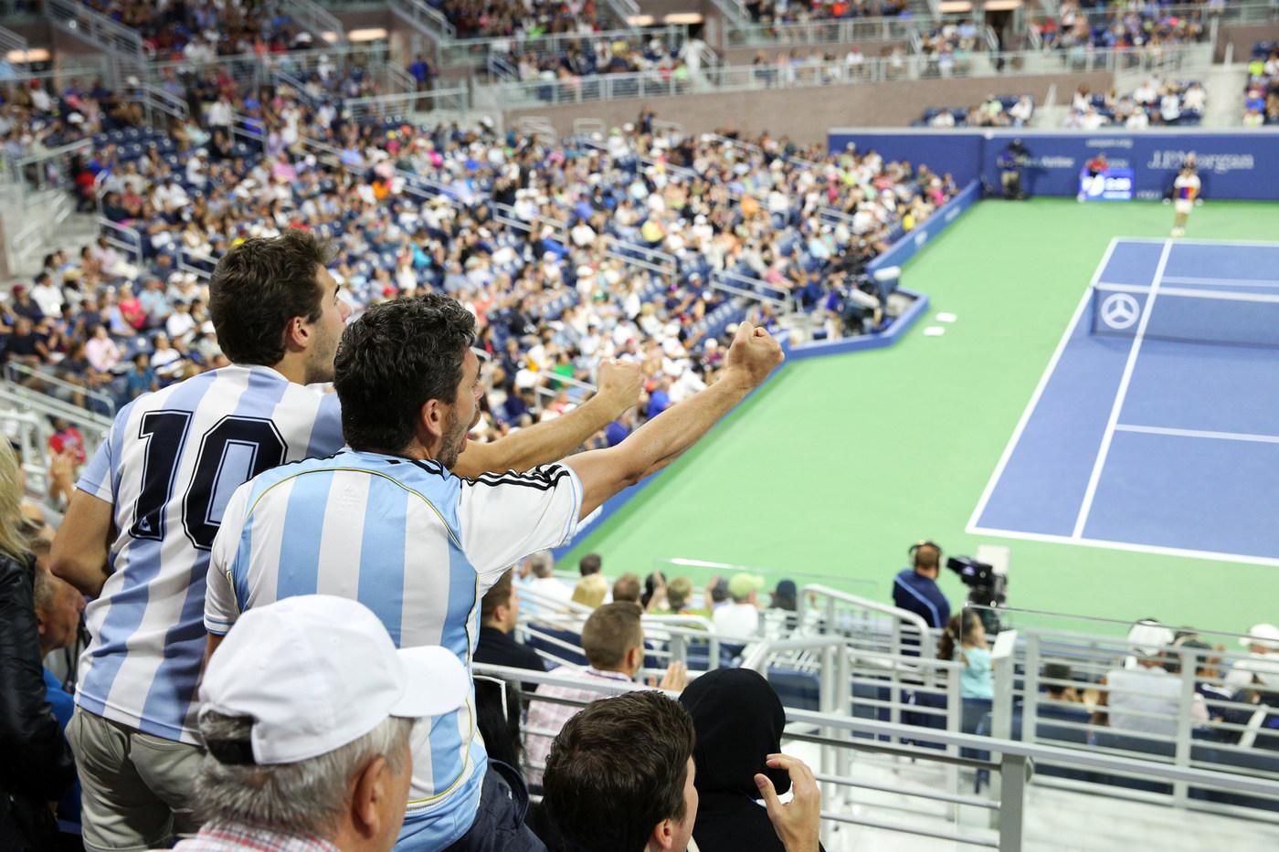 Los argentinos se hicieron notar en las gradas.