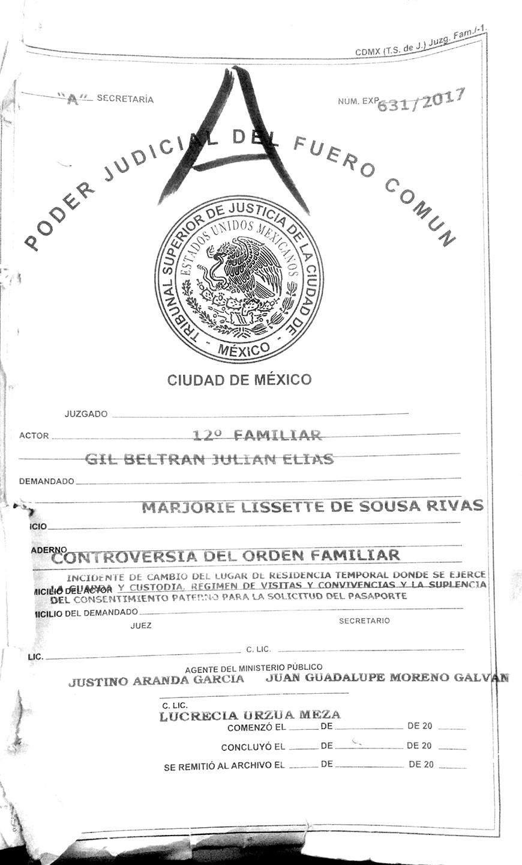Juez no autoriza pasaporte de Matías Gil De Sousa