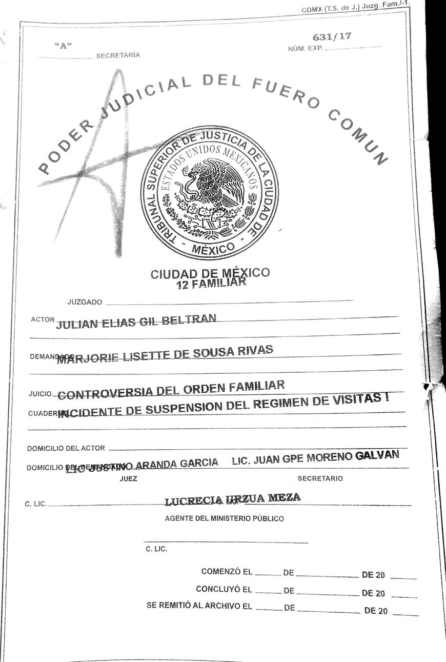 Juez no acepta la suspensión de las visitas de Julián Gil y Matías
