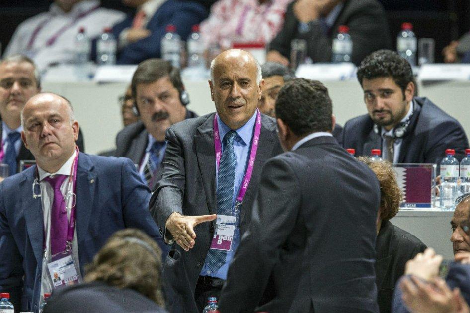 El presidente de la federación palestina de fútbol, Jibril Rajoub