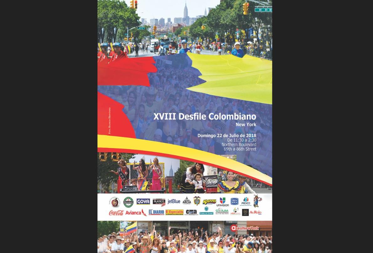 Desfile colombiano 2018.