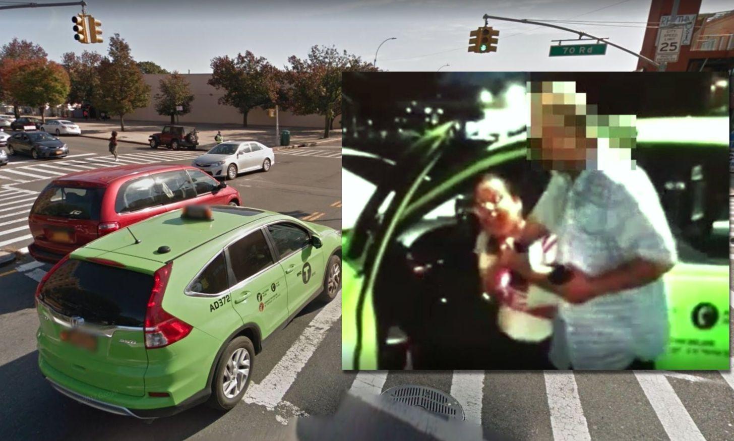 Intersección en la que tuvo lugar la agresión al taxista