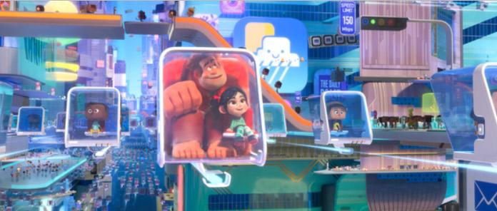 Ralph y Vanellope viajando por Internet. / Foto: Disney