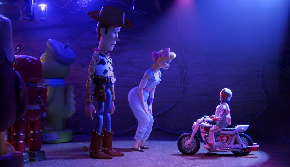 Duke Caboon con Bo Peep y Woody. / Foto: Pixar