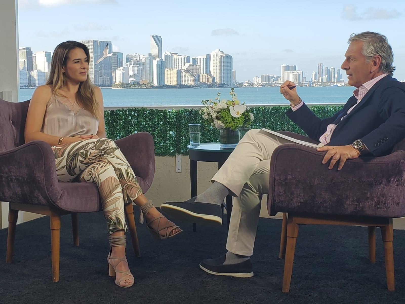 Érika de la Vega durante la entrevista. / Foto: CNN en Español.