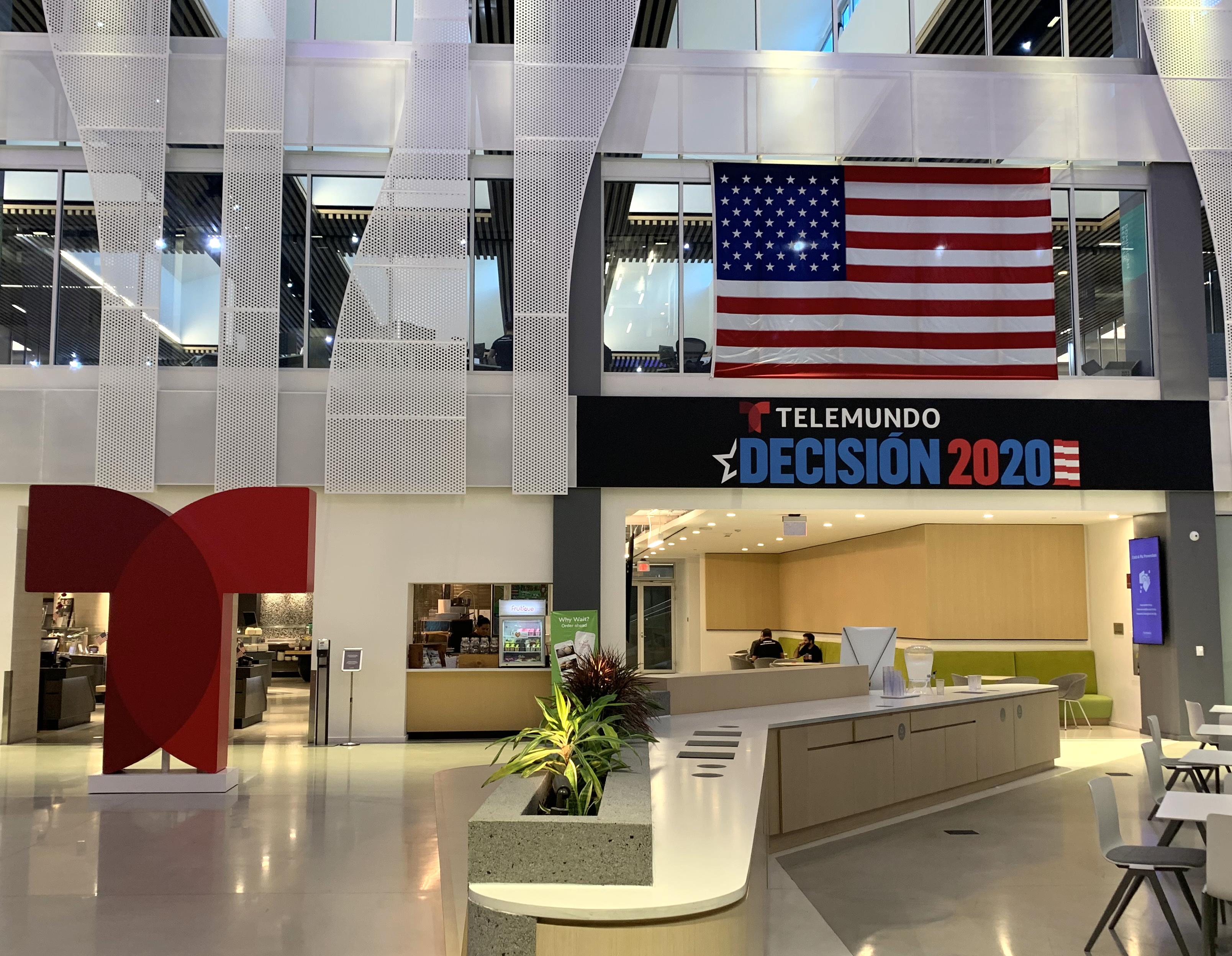 Lobby de Telemundo Center en Miami.
