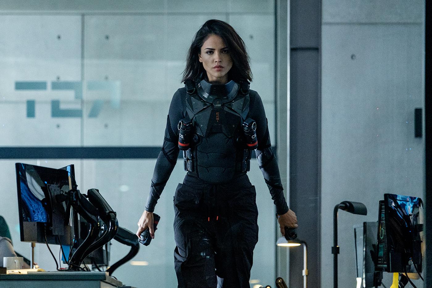 """Eiza González como KT en """"Bloodshot"""". / Foto: Columbia Pictures"""