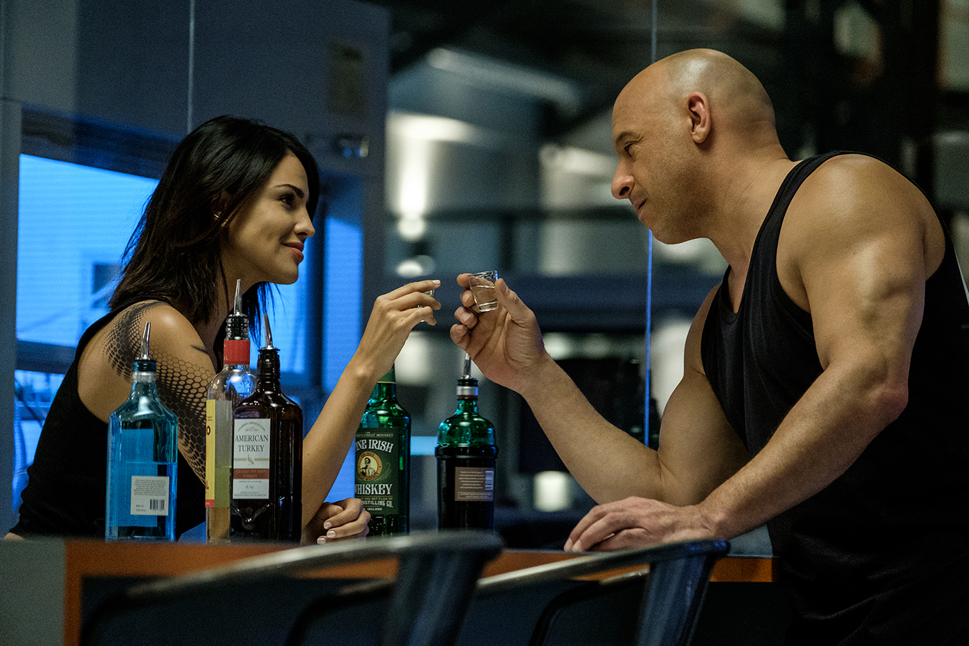 Eiza González y Vin Diesel en el film. / Foto: Columbia Pictures