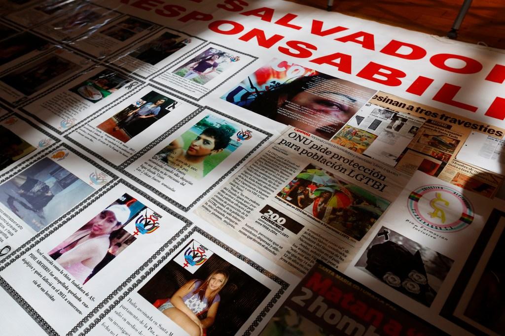 Fotografías de mujeres transgénero de El Salvador que han sido asesinadas./ Aurelia Ventura