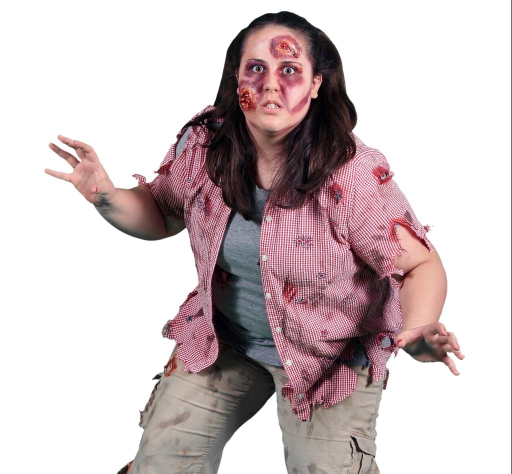 La serie televisiva de los zombies continúa inspirando los disfraces que meten susto.