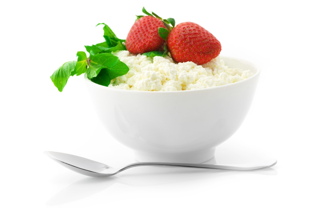 El cottage cheese, o requesón, es alto en proteína y calcio.