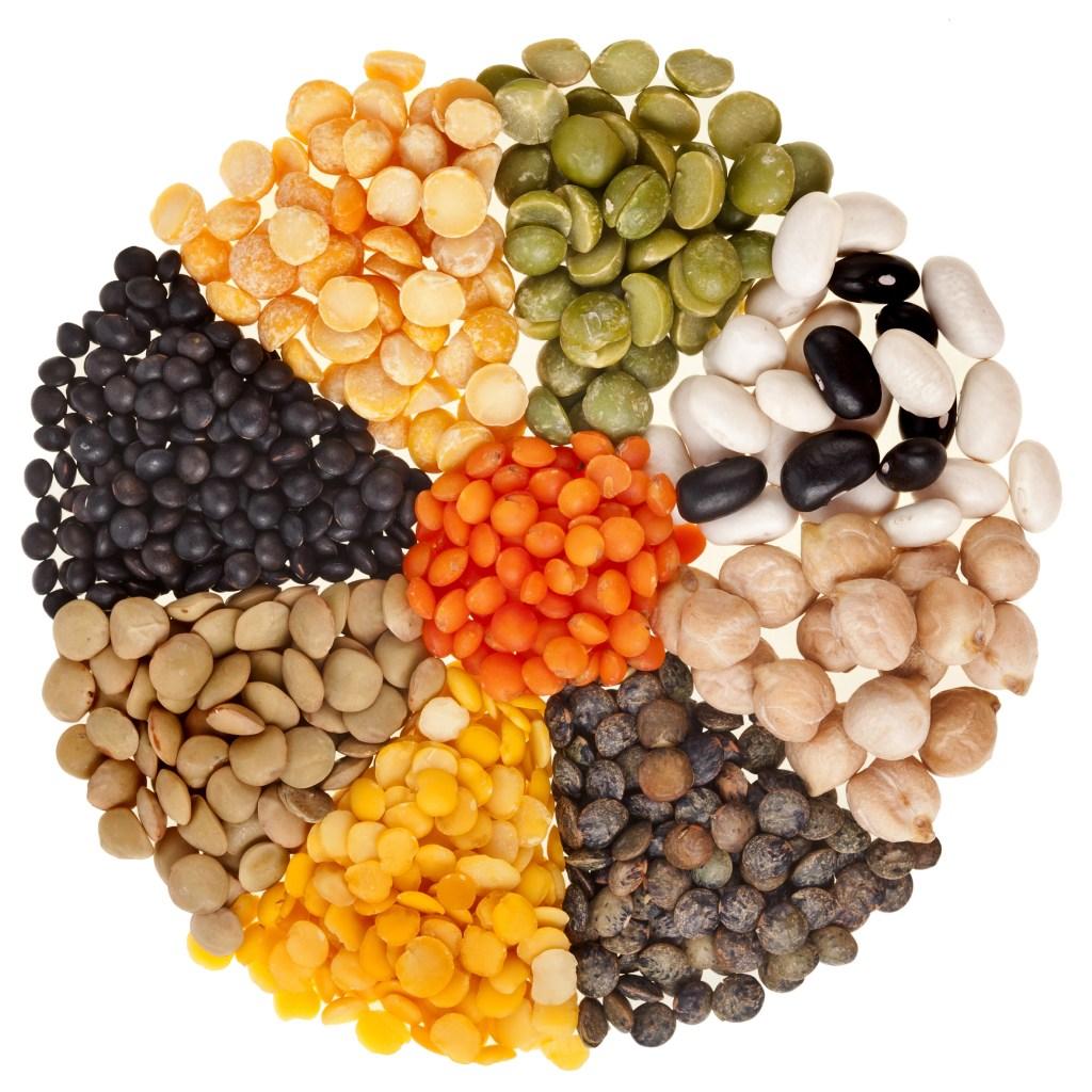 Las legumbres son buena fuente de proteínas.