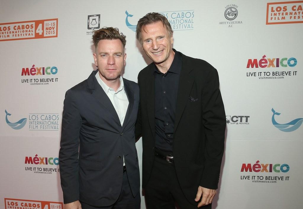 Ewan McGregor y Liam Neeson, que trabajaron juntos en 'Star Wars: The Phantom Menace', hace tres semanas en el Festival Internacional de Cine de Los Cabos.