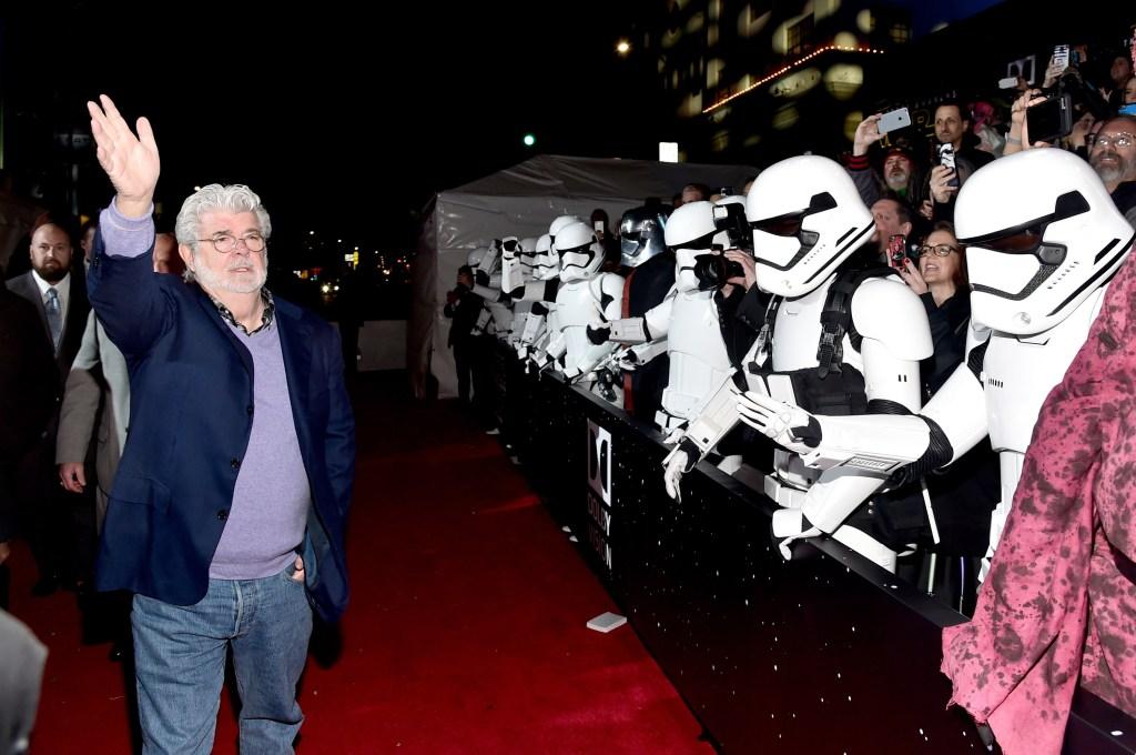 George Lucas, el creador de 'Star Wars', asistió a la premiere.