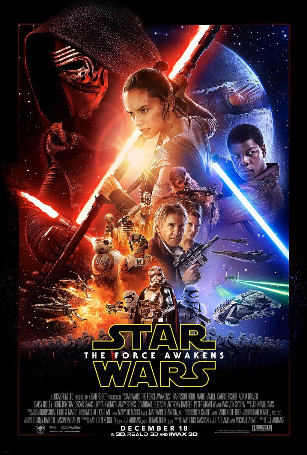 El póster oficial del filme con todos los personajes.