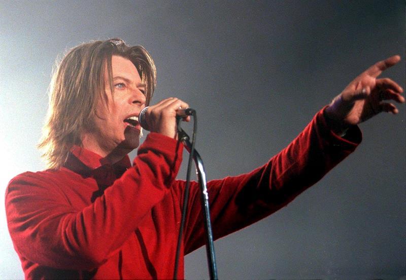 David Bowie durante un concierto en Viena, Austria, en 1999.