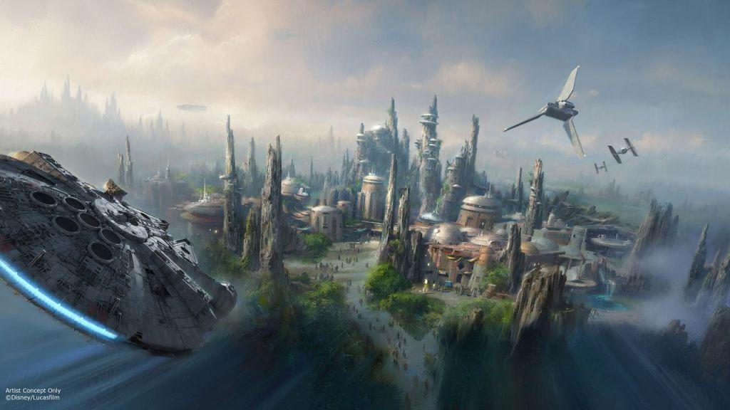 Diseño conceptual del área temática dedicada a 'Star Wars' en Disneyland cuya construcción dará inicio en breve.