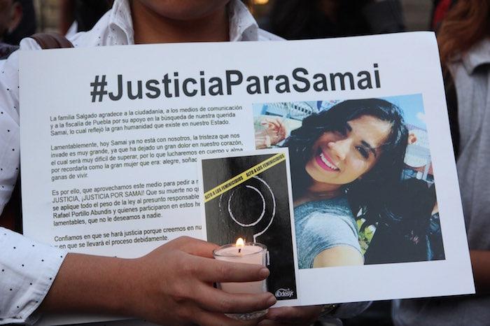 Samaí Márquez Salgado, tenía dos meses de embarazo, y su cuerpo fue encontrado el 20 de febrero en la zona de Valsequillo.