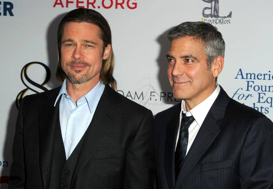 """Clooney y Pitt se hicieron amigos después de coincidir en el rodaje de """"Ocean´s 11"""" hace ya 15 años."""