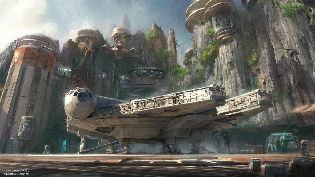 Una atracción a bordo del Millenium Falcon será la gran estrella del área temática.