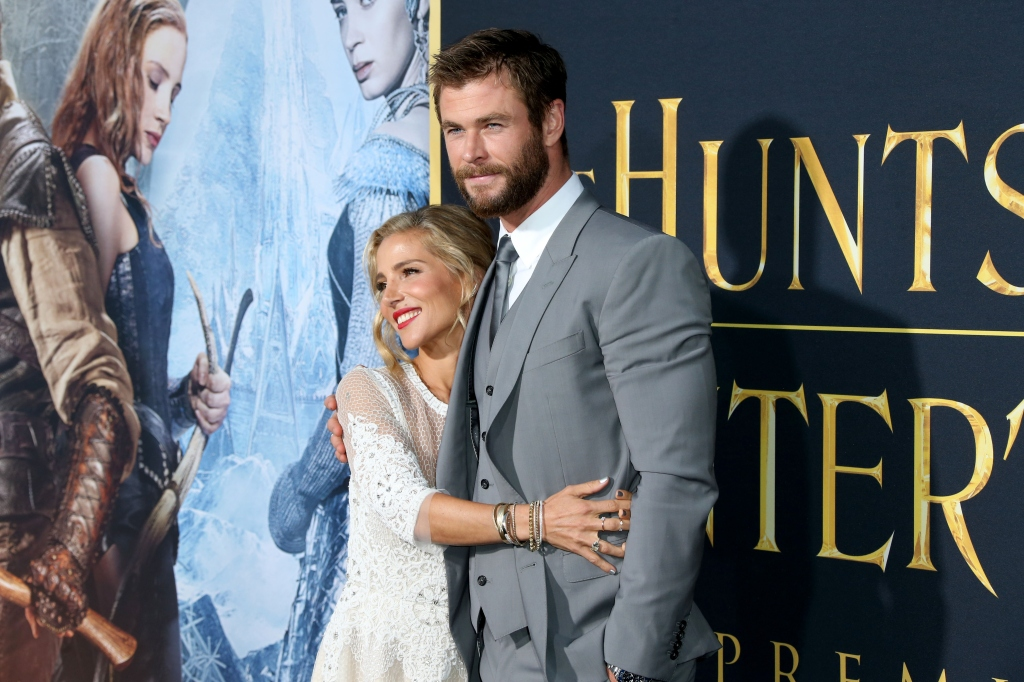 Chris Hemsworth y su esposa Elsa Pataky en el estreno de 'The Huntsman: Winter's War' en Los Ángeles el 11 de abril.