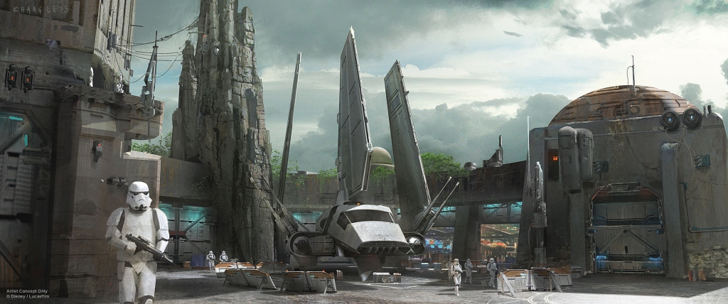Una idea de lo que será 'Star Wars Land'.