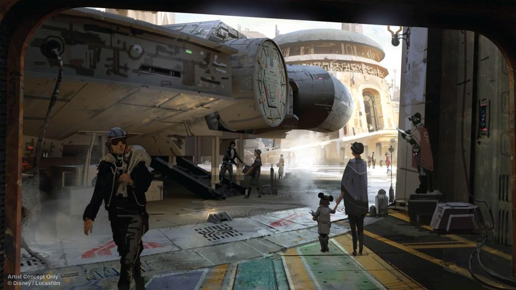 Otra imagen conceptual de 'Star Wars Land'.