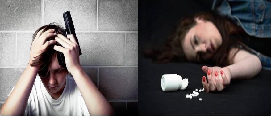 Los varones se suicidan con armas de fuego o se ahorcan, mientras que las hembras recurren a sobredosis con pastillas o se autolesionan.