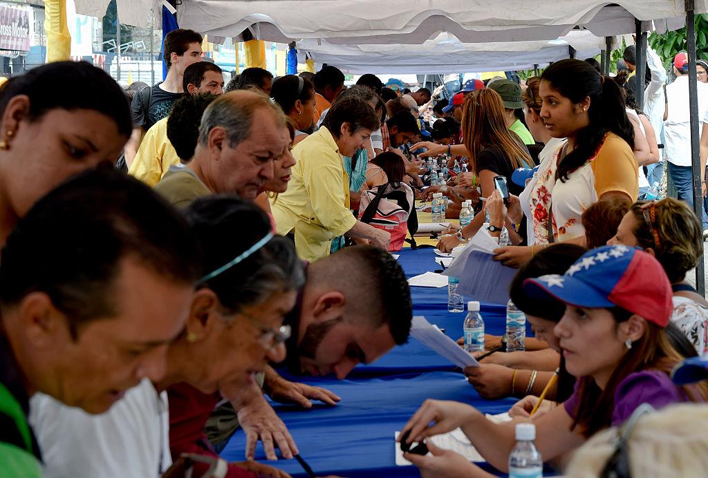La convocatoria de la oposición en el primer proceso de recolección de firmas fue enorme.