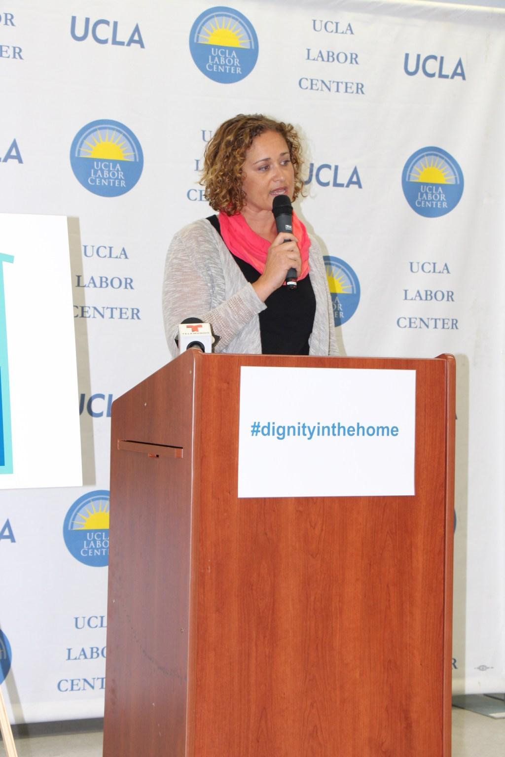 La empleadora de Jessica, Connie Galambos-Malloy, cuenta su experiencia en Centro Laboral de UCLA.