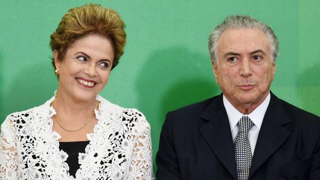 Dilma y Temer en mejores tiempos.