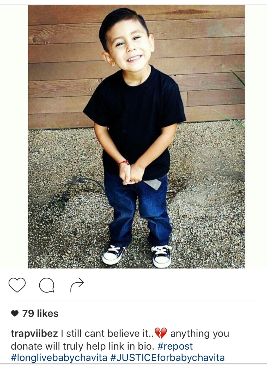 Instagram photograph of Salvador Esparza III 07/06/16/ALTADENA / Authorities investigate the scene, in the 300 block of Figueroa Drive, where a 4-year-old boy died following a drive-by shooting in Altadena. The boy, identified as Salvador Esparza III. (Photo Aurelia Ventura/ La Opinion)