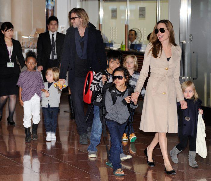 Angelina Jolie Brad Pitt e hijos