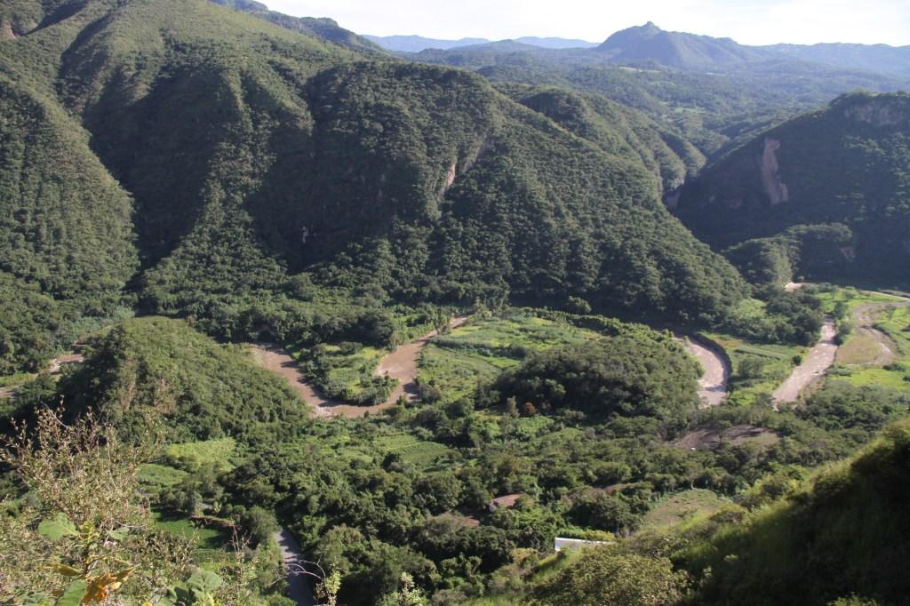 Chichila, Guerrero, al fondo del barranco.