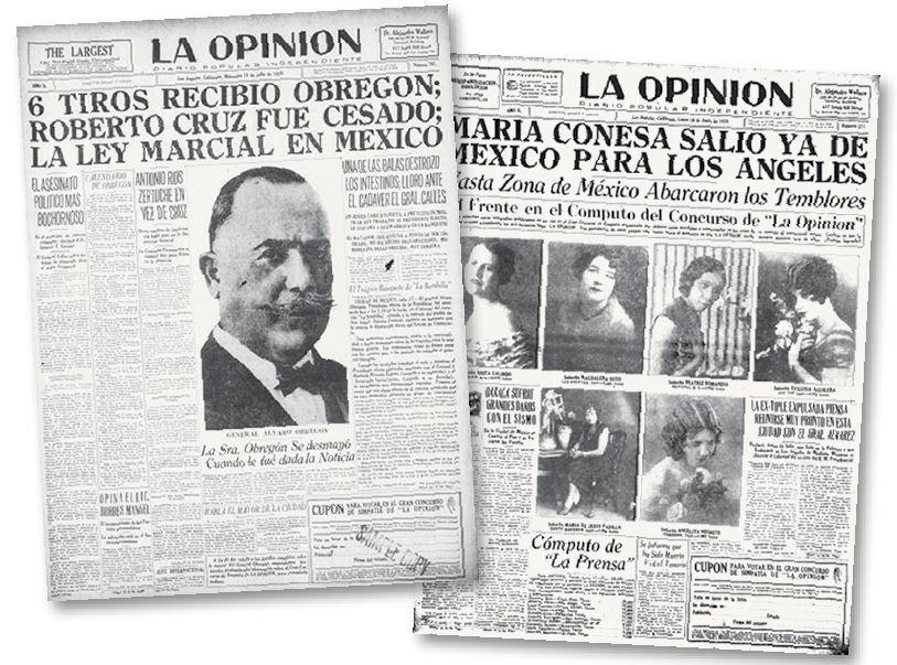 En sus primeras etapas, así lucían los ejemplares de La Opinión.