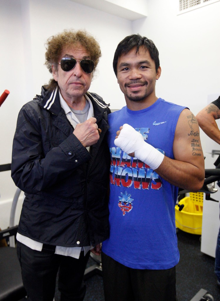 Bob Dylan y Manny Pacquiao.