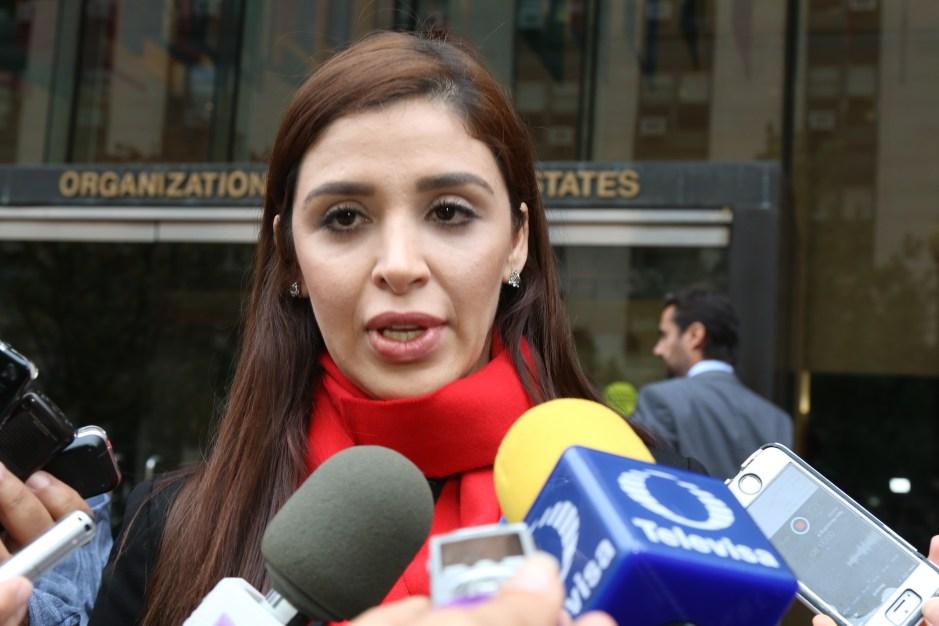 """La esposa de """"El Chapo"""", Emma Coronel, dijo estar """"satisfecha"""" con sus reuniones en la CIDH para atender su solicitud para una medida cautelar para el narcotraficante. Foto: María Peña/Impremedia"""