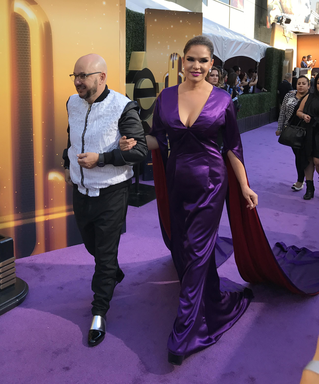 Pepe Garza y Elisa Beristain en la alfombra morada de los Premios de la Radio 2016 / Foto: Armando Tinoco