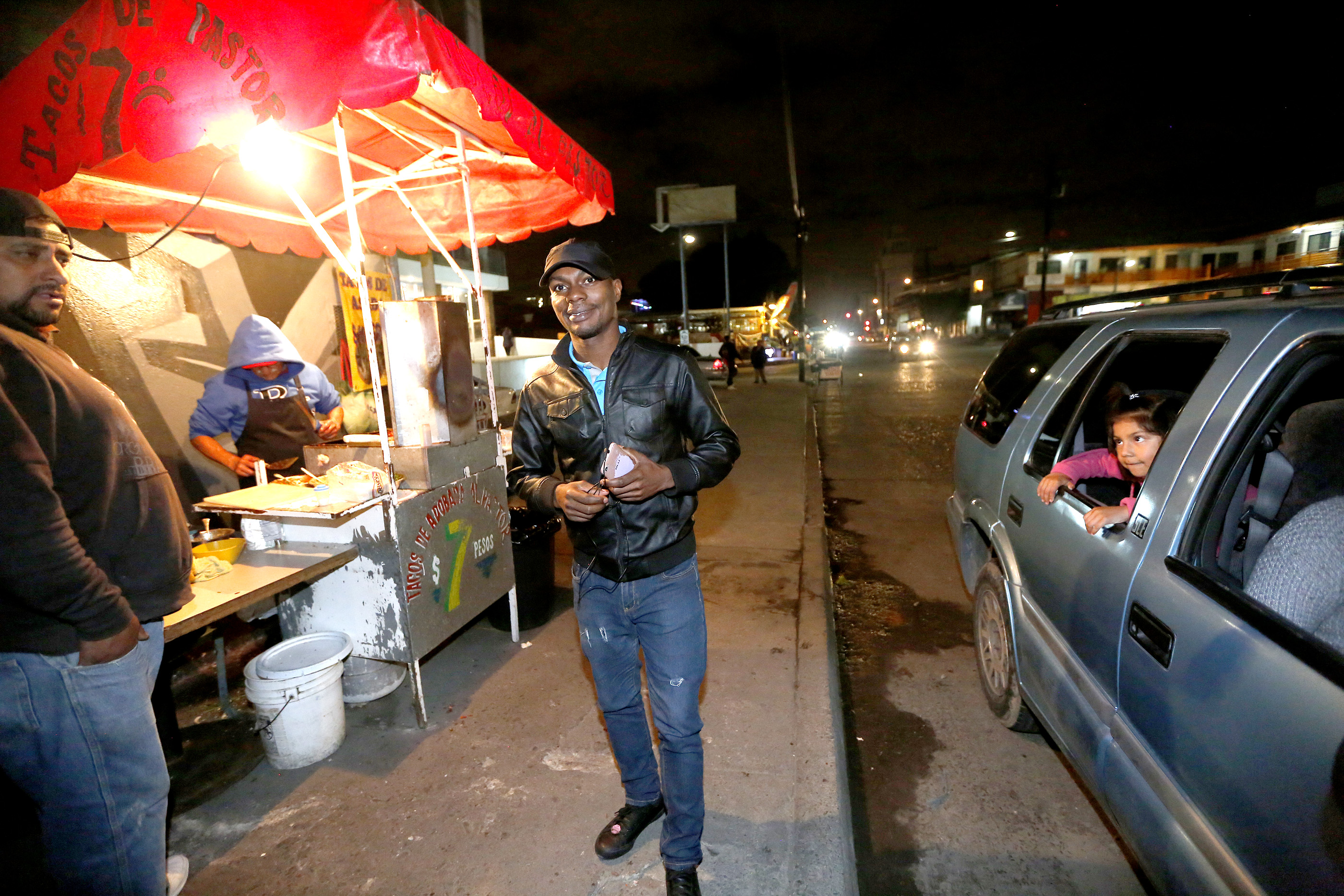 12/08/16/ TIJUANA/Haitian Lazarre John Arold with his wife is among a handful of refugees who have decided to stay in Tijuana, Mexico. Haitian Lazarre John Arold receives help at the Salvation Army in Tijuana. An unprecedented arrival of Haitians and others seeking entry into the United States in recent weeks has sent Tijuanas migrant shelters scrambling to find beds, blankets, food and other necessities to serve this increase of people awaiting processing by U.S. authorities. (Photo Aurelia Ventura/ La Opinion)
