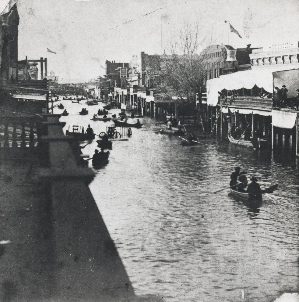 Así lucía Sacramento después de la Gran Inundación de 1862 (Foto: Center for Sacramento History)