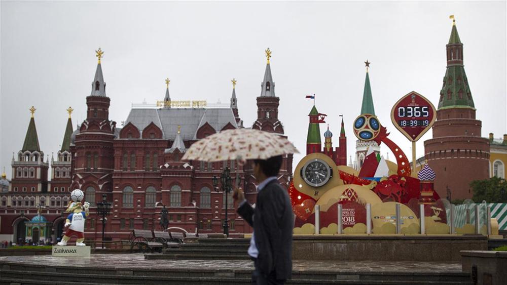 Una psotal clásica de Moscú: la Plaza Roja
