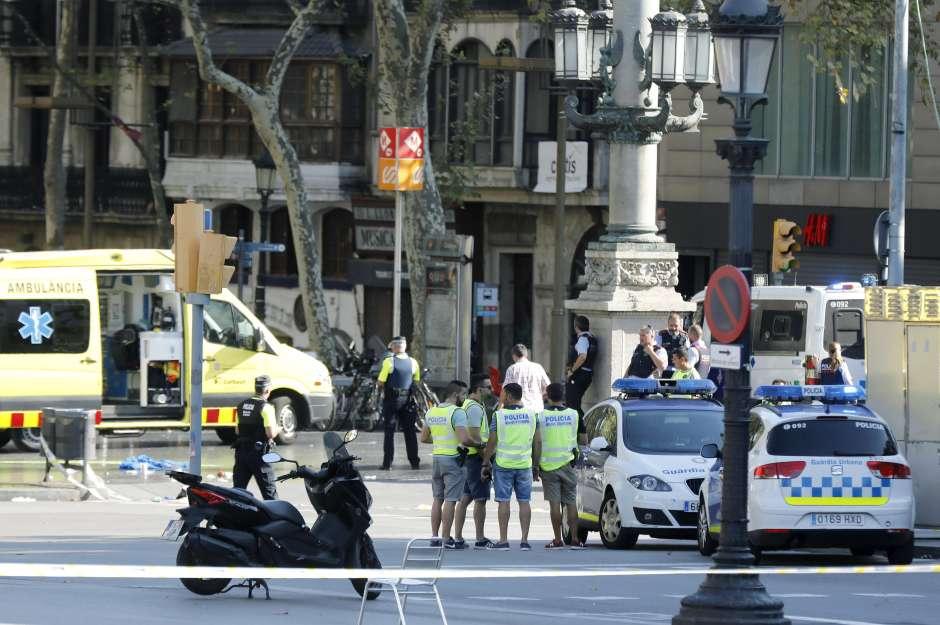 Un atentado terrorista sacudió este jueves a Barcelona, España